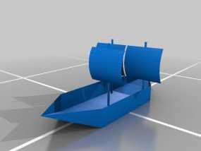 帆船 3D模型