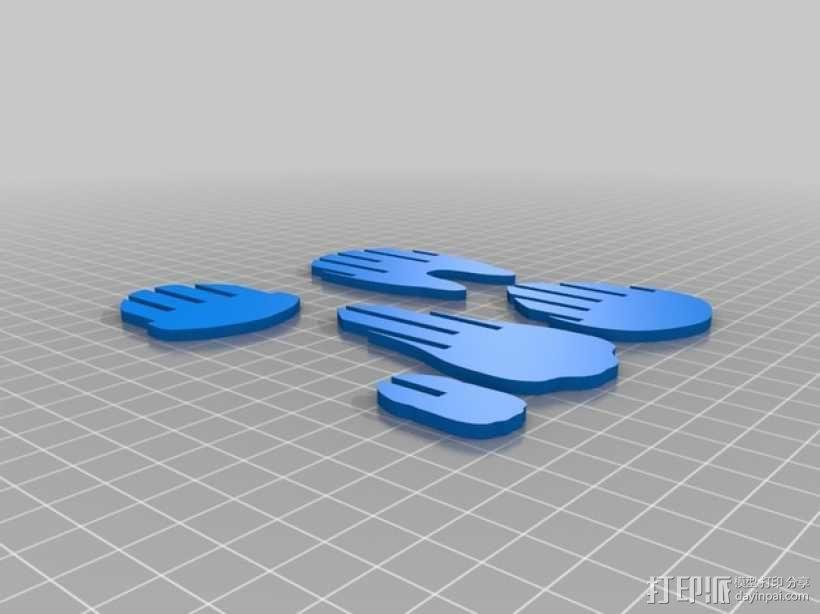 拼组马 3D模型  图10