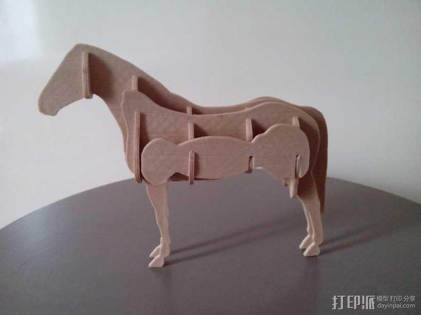 拼组马 3D模型  图14
