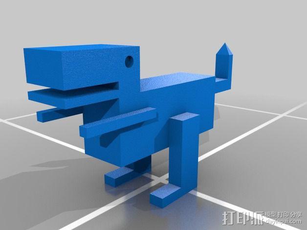 恐龙机器人 3D模型  图1