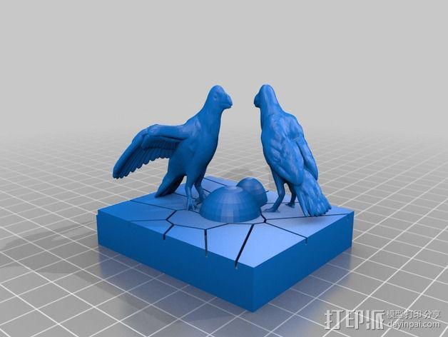 觅食的乌鸦 3D模型  图2