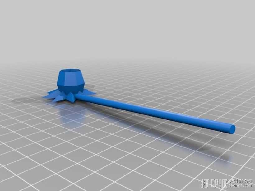 水仙花 3D模型  图2
