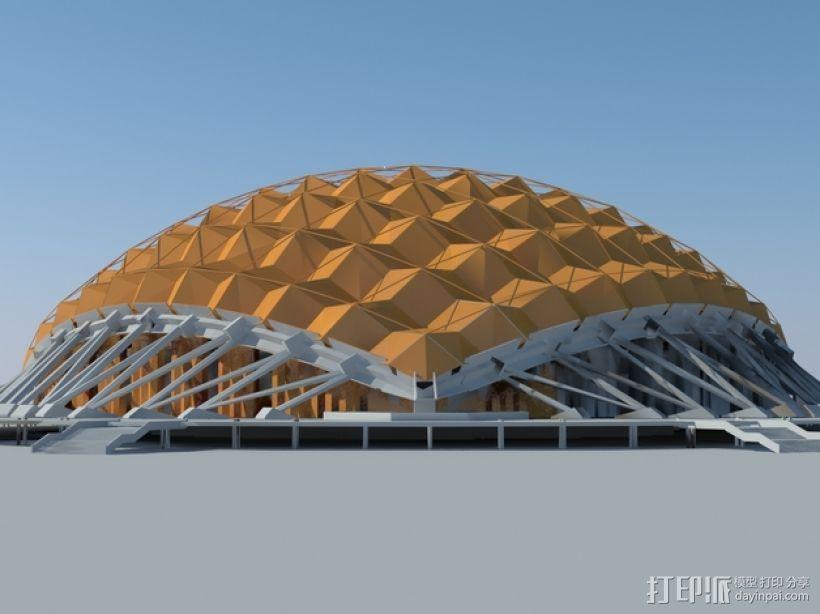 卡拉特拉瓦体育场 3D模型  图1