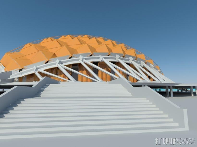 卡拉特拉瓦体育场 3D模型  图3