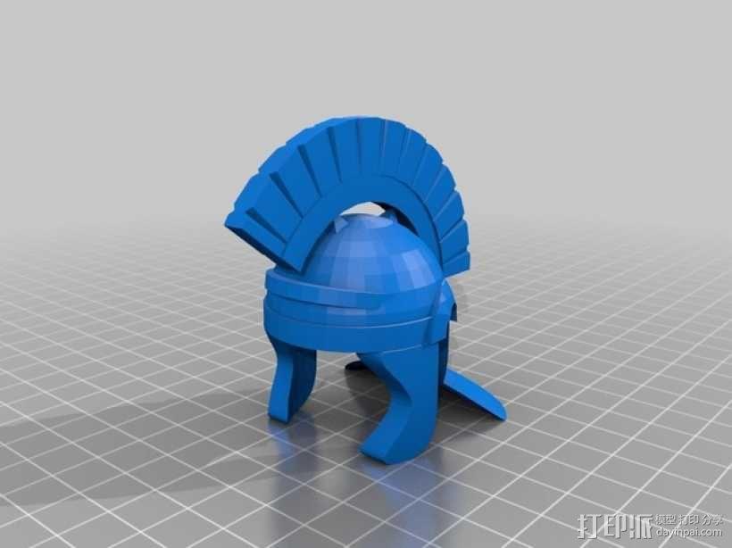 罗马人头盔 3D模型  图2