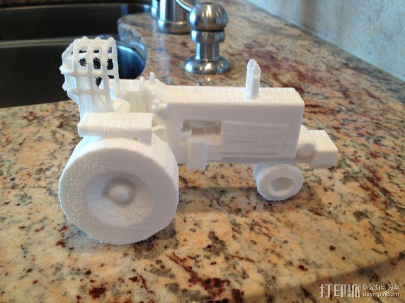法摩尔拖拉机 3D模型  图1