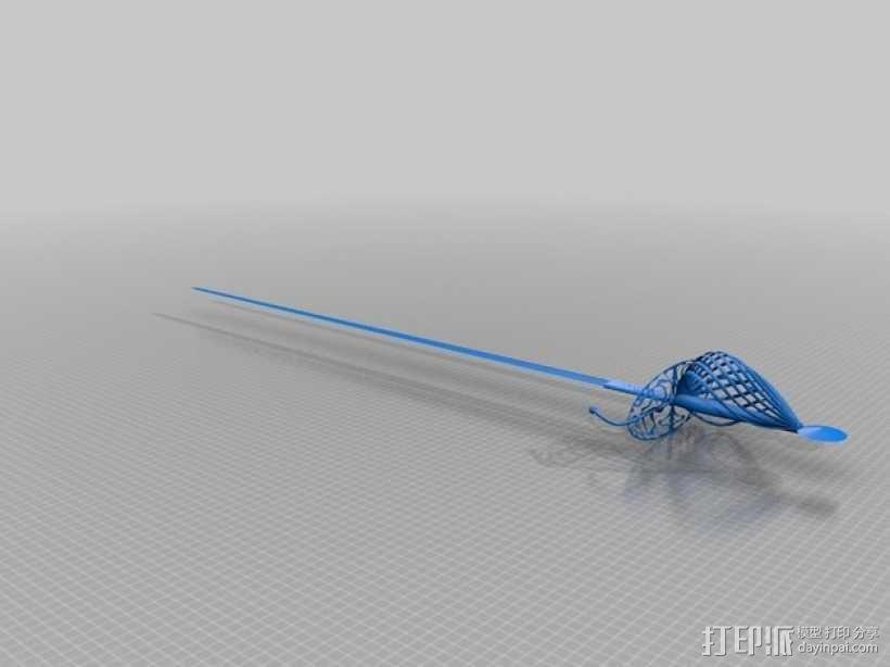 长剑 3D模型  图1