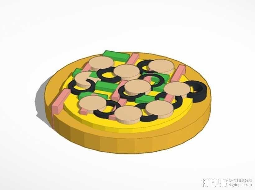 披萨 3D模型  图1