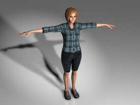 Mixamo Fuse女孩模型 3D模型