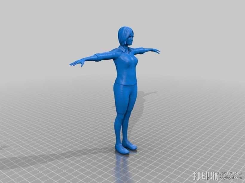 Mixamo Fuse女孩模型 3D模型  图6