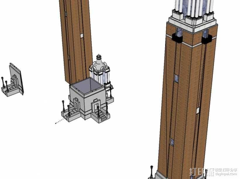 圣地亚哥州立大学钟楼 3D模型  图2