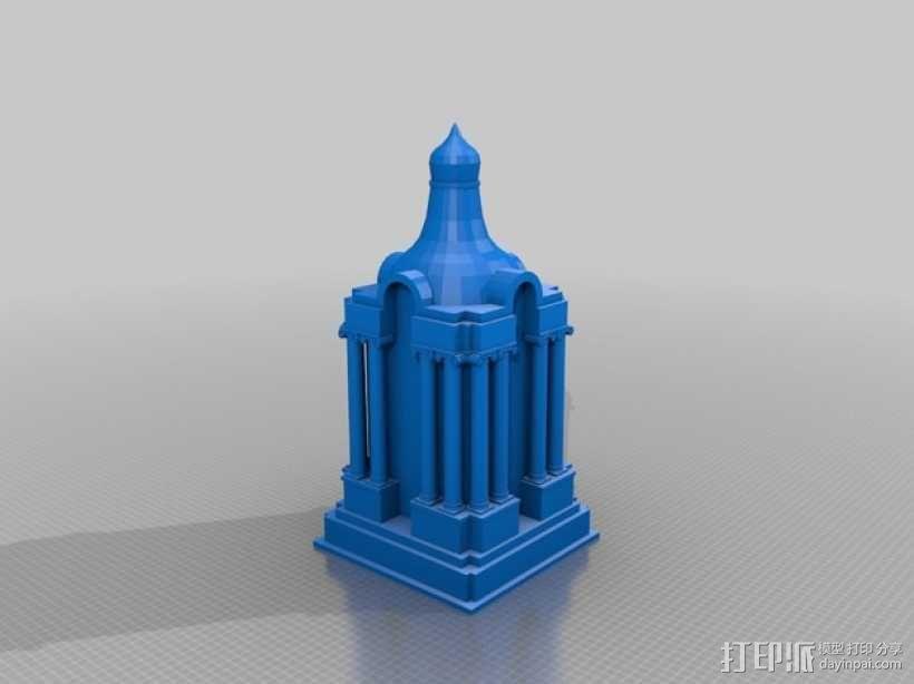 圣地亚哥州立大学钟楼 3D模型  图3