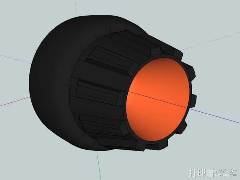 喷射发动机外保护罩 3D模型  图1