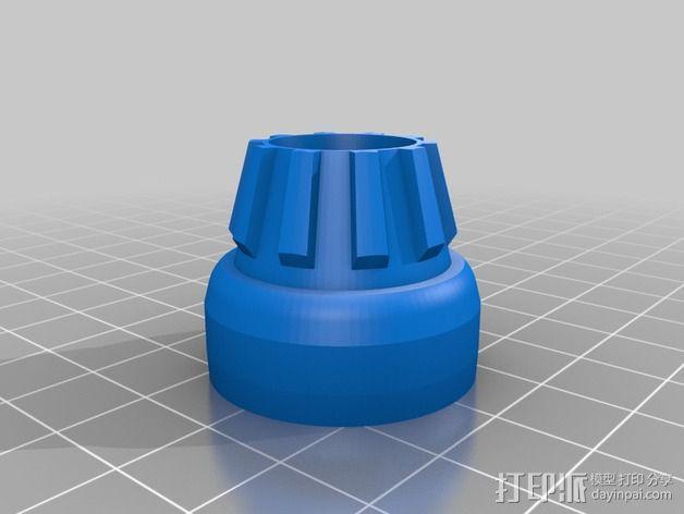 喷射发动机外保护罩 3D模型  图2
