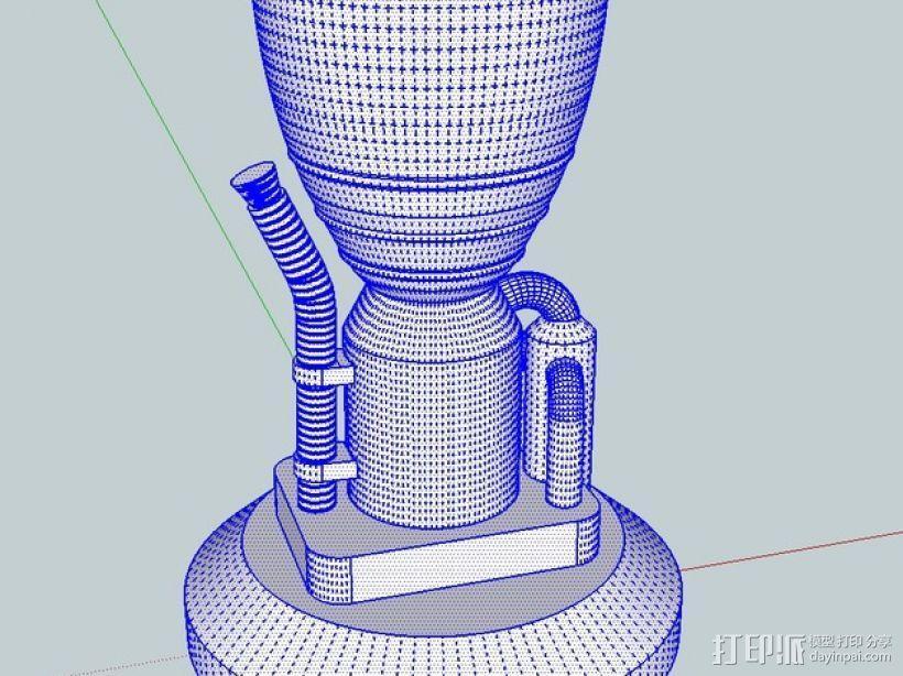 KSP LV-T30 火箭引擎 3D模型  图3