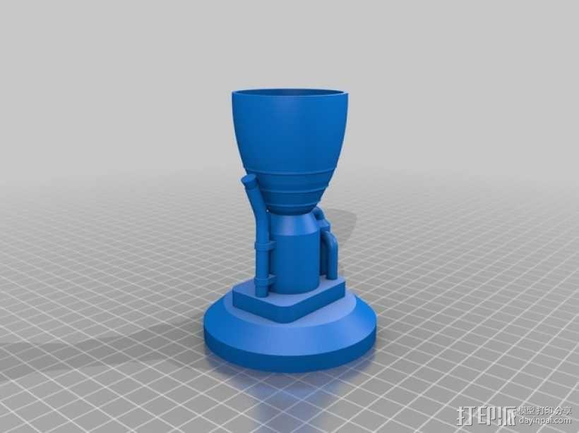 KSP LV-T30 火箭引擎 3D模型  图4