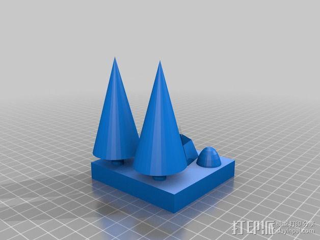 花园中的池塘 3D模型  图2