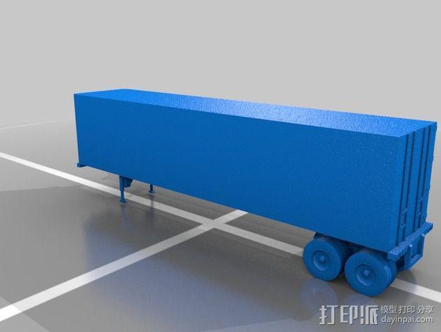 箱型拖车 3D模型  图2