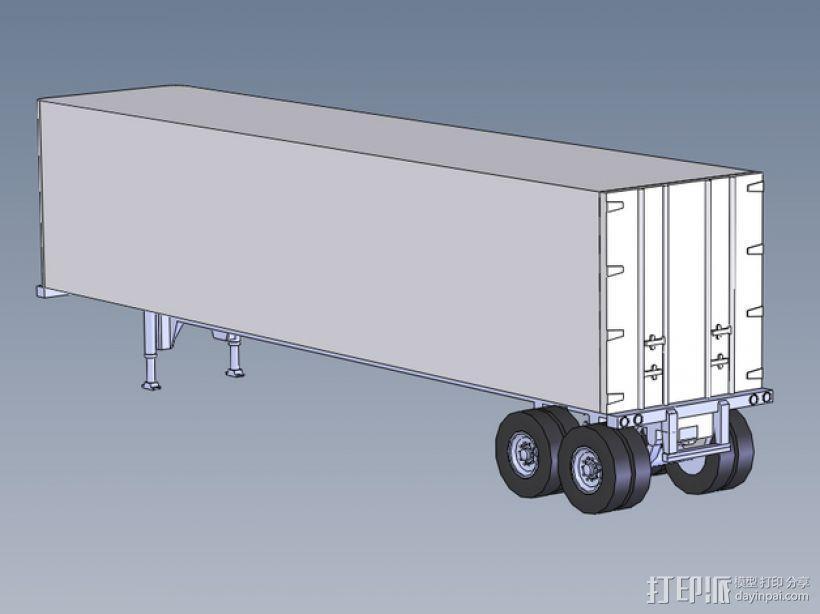 箱型拖车 3D模型  图1