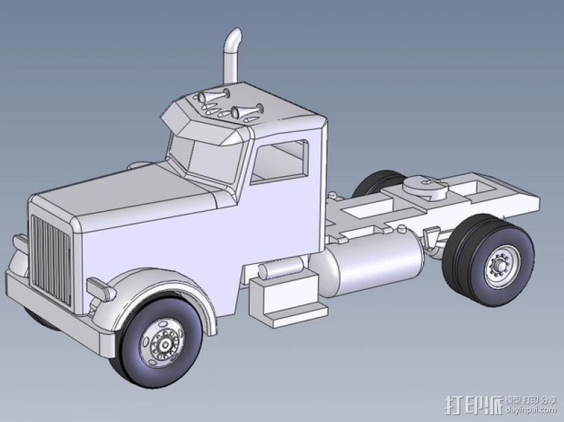 箱型拖车前部 3D模型  图1