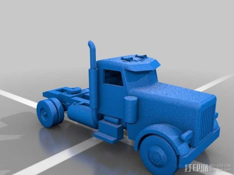 箱型拖车前部 3D模型  图2