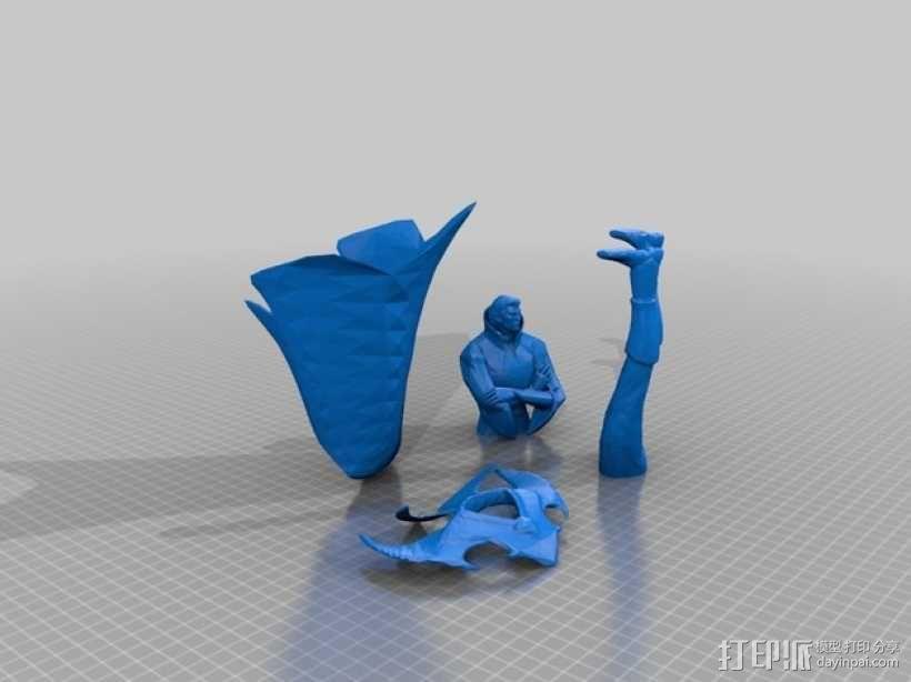 刀塔传奇Invoker人物造型模型 3D模型  图2
