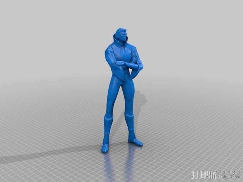 刀塔传奇Invoker人物造型模型 3D模型  图3