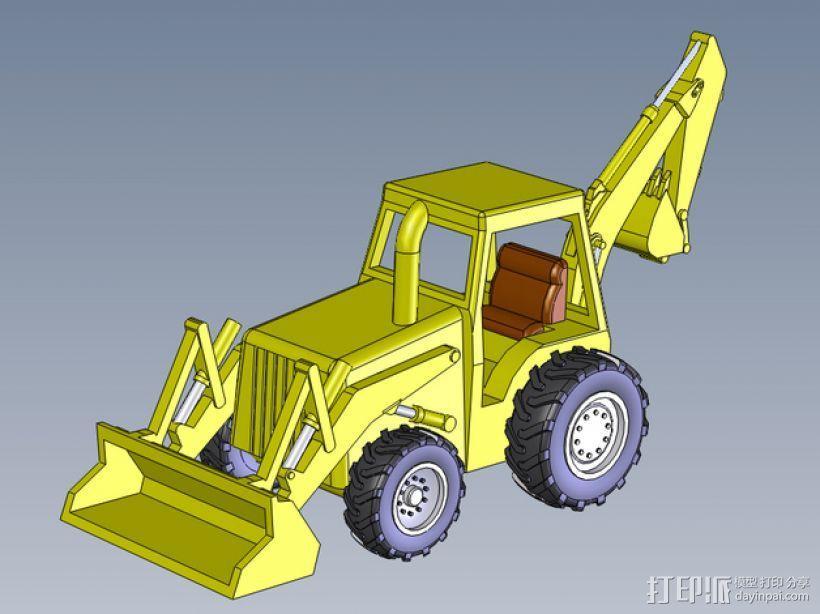 装载机 装载车  3D模型  图1