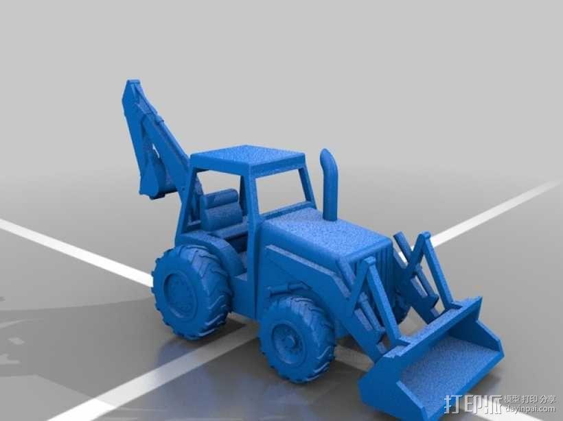 装载机 装载车  3D模型  图2