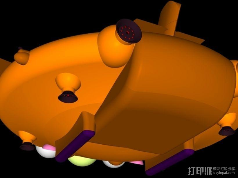 混合动力无人机 3D模型  图5