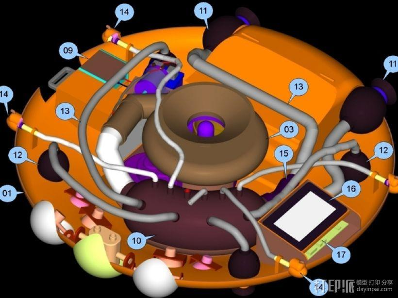 混合动力无人机 3D模型  图10