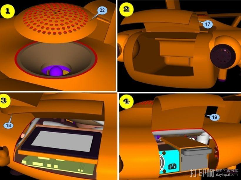 混合动力无人机 3D模型  图9