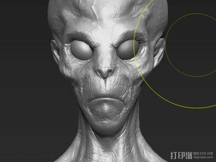 外星人头部模型 3D模型  图4