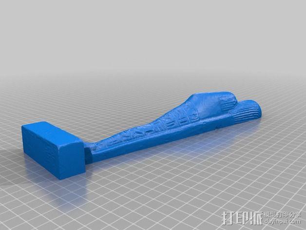 埃及守护神Shabti沙伯替 3D模型  图4