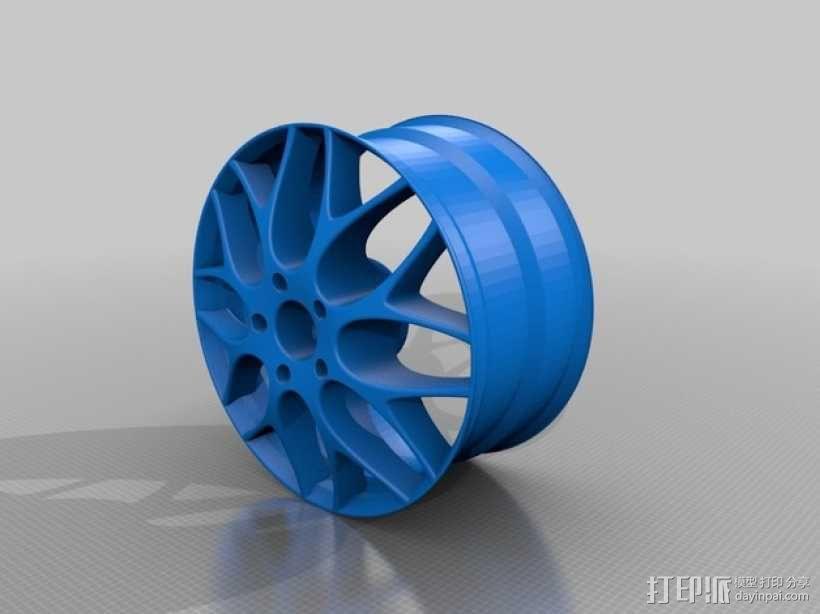 宝马汽车 车轮圈 3D模型  图1