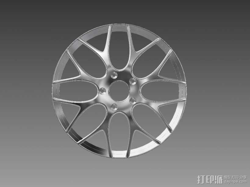 宝马汽车 车轮圈 3D模型  图2