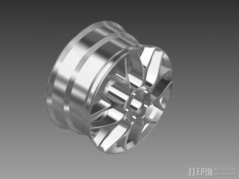 宝马汽车 车轮圈 3D模型  图4
