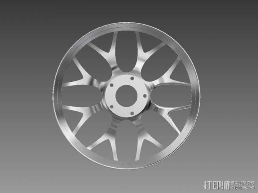 宝马汽车 车轮圈 3D模型  图3