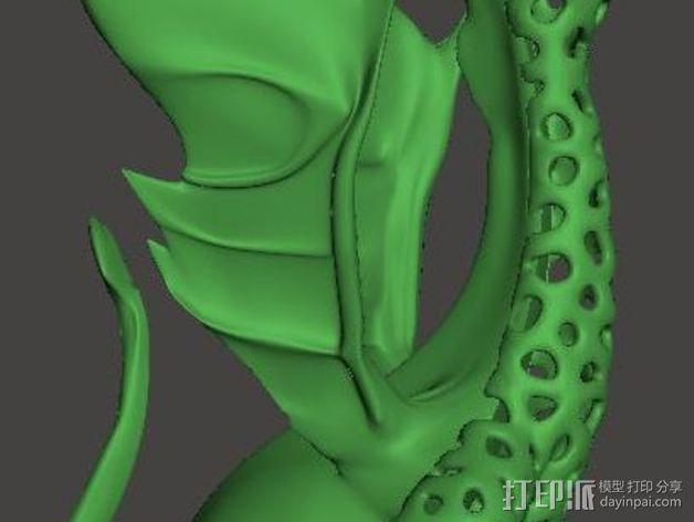 泰森多边形唱歌的火龙 3D模型  图2