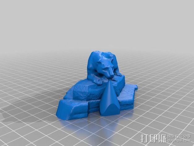 狮子雕像 3D模型  图4