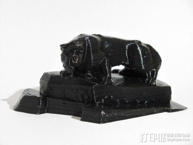 狮子雕像 3D模型  图2