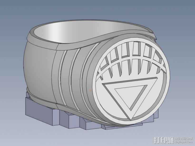 白灯指环 3D模型  图1