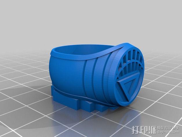 白灯指环 3D模型  图2