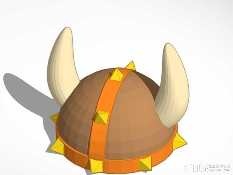 维京人头盔  3D模型  图1
