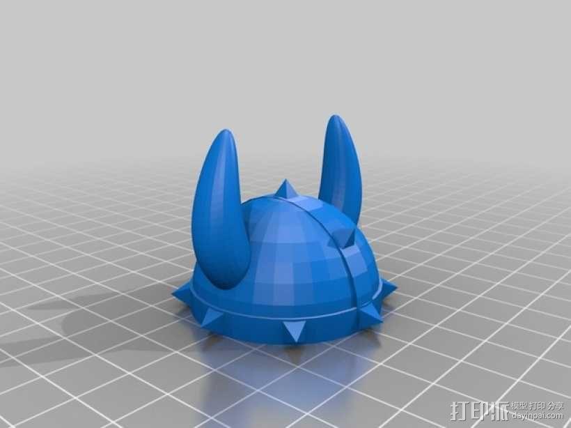 维京人头盔  3D模型  图2