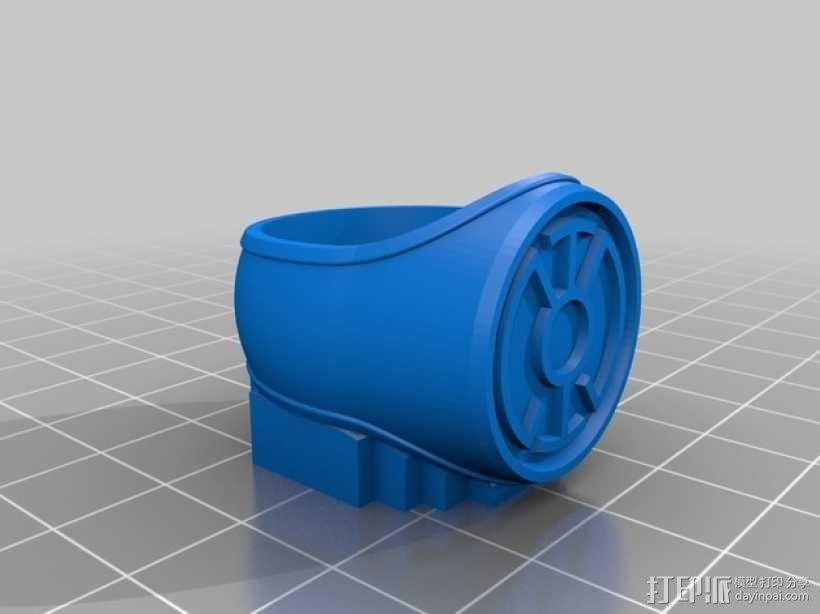 蓝灯指环 3D模型  图1