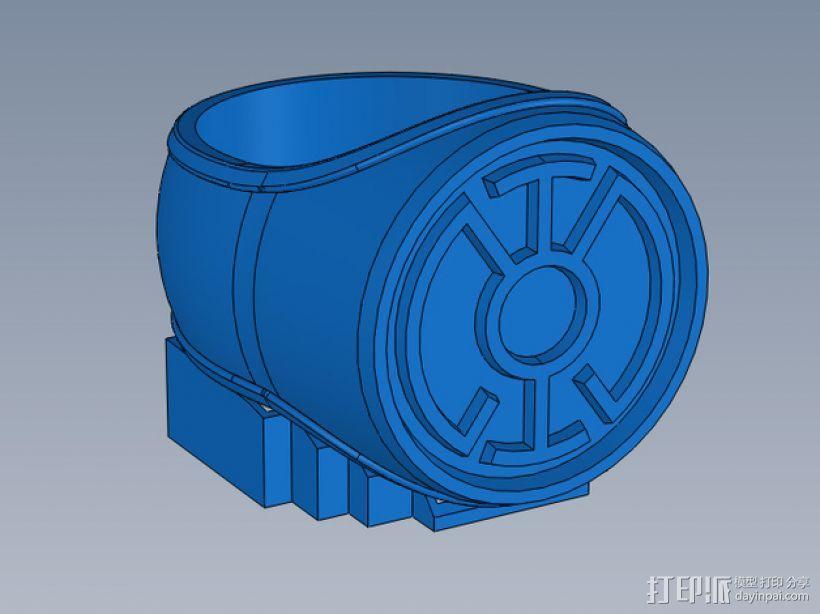 蓝灯指环 3D模型  图2