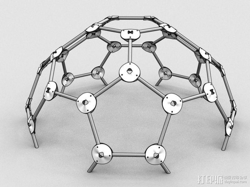 网格球形建筑屋顶 3D模型  图1