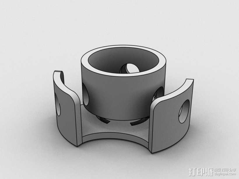 圆形屋顶连接器 3D模型  图2
