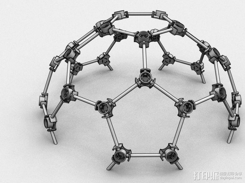 圆形屋顶连接器 3D模型  图3